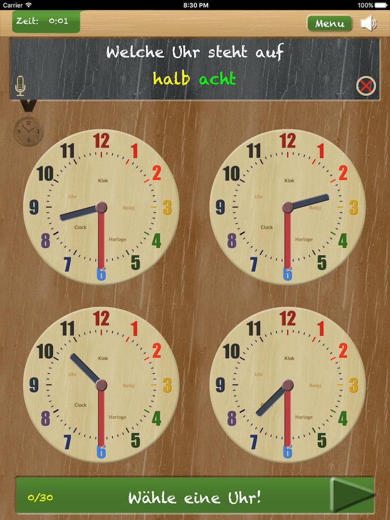 Stell Die Uhr App Uhr Lesen Lernen